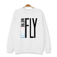 Kpop new arrival got7 live tour fly in seoul same we are gonna fly printing o neck hoodie plus size mark jackson jb jr hoodie
