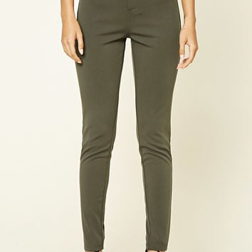 Flat-Front Stretch-Knit Pants