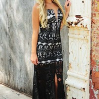 First Formal Maxi Dress: Black/Off White