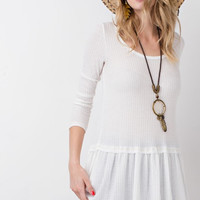 Cream Thermal Baby Doll Tunic