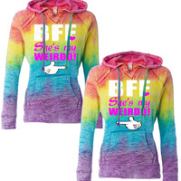 1 bff She's My Weirdo Hoodies