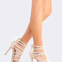 Strappy Jeweled High Heel