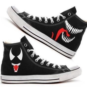 DCCK1IN venom custom converse painted shoes