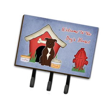 Dog House Collection Staffordshire Bull Terrier Chocolate Leash or Key Holder