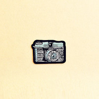 Camera patch - Iron on patch -Sew On patch - Embroidered Patch (Size 7.5cm x 5.3cm)