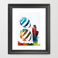 Angel Fish Art - Little Angels 2 - By Sharon Cummings Framed Art Print by Sharon Cummings | Society6