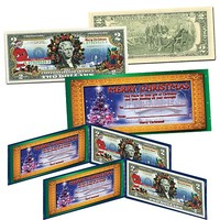 Set of 2 Christmas-Themed Colorized $2 Bank Notes at HSN.com