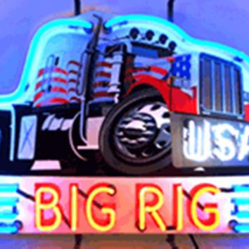 "Big Rig Truck Glass Tube neon sign light Automotive signs Shop Store Decorative man cave bar gas oil Custom Light  17""x14"""