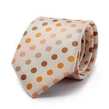 Orange Polka Dot Slim Tie