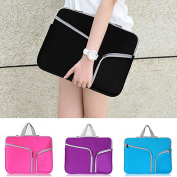 "Notebook laptop Sleeve Case Carry Bag Pouch Cover For 11"" 13"" 15"" MacBook Air/Pro Portable Zipper Laptop bag"
