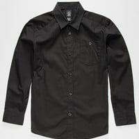 Volcom Everett Boys Shirt Black  In Sizes