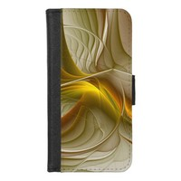 Colors of Precious Metals, Abstract Fractal Art iPhone 8/7 Wallet Case
