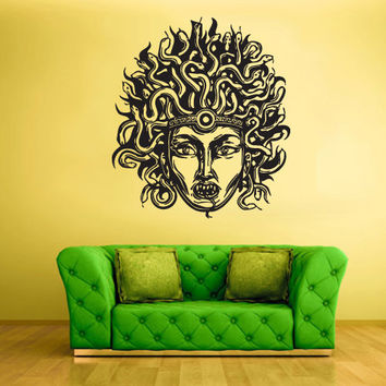 Wall Vinyl Sticker Decals Decor Art Bedroom Design Medusa Face Gorgona Myth Egypt (z1863)