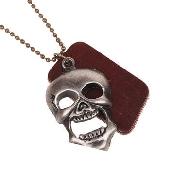 hot explosion models fashion long sweater chain pendant with clothing for man and woman selling popular skull simple generous
