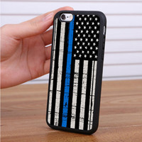 The Thin Blue Line USA Flag iPhone 7 | 7 Plus Case Sintawaty.com