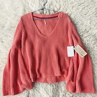 Free People Coral Moon Summer Sweater