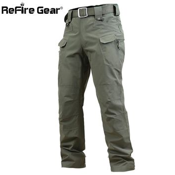 ReFire Gear Tactical X7 Lightweight Waterproof Military Pants Men SWAT Pockets Army Cargo Pants Spring Soft Shell Combat Trouser