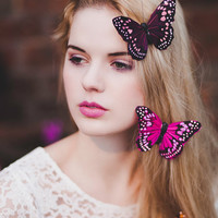 Large Monarch Butterfly Hair Clip- in 4 Colours