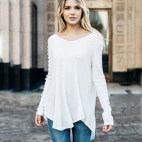 Lace Trim Thermal Tee