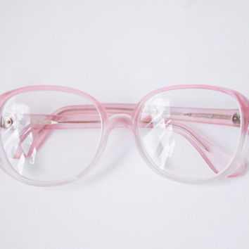 Translucent Pink Glasses / Soviet Vintage from MonstersOverTheSea