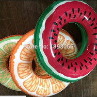 4 sizes Inflatable Orange Fruit Inflatable Watermelon Life Buoy Swimming Tubes Water Sport Summer PARTY Kid Swimming Pool Floats