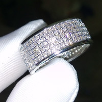 Classic 10kt White Gold Filled Anniversary Wedding Bands For Women