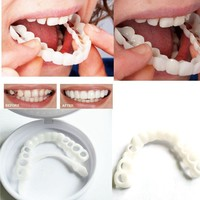 Teeth Whitening Snap On Smile Teeth Cosmetic Denture Instant Perfect Smile Teeth Fake Tooth Cover One Size Fits tee002