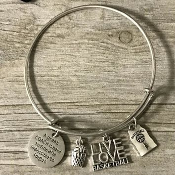 Great Coach is Hard to Find But Impossibe to Forget Charm Bracelet