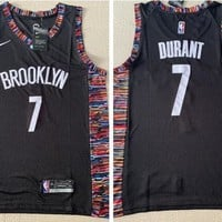 Nike Brooklyn Nets #7 Kevin Durant Basketball Jersey Black City