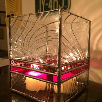 Stained Glass Candle Holder Custom Handmade votive