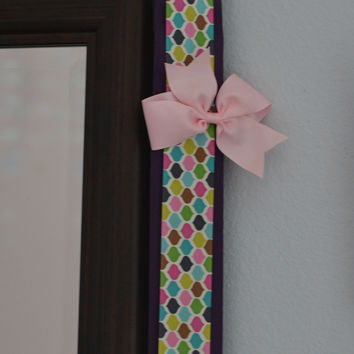 Hair Bow Holder Organizer - Purple and Colored Pattern