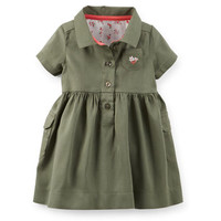 Sateen Cargo Dress