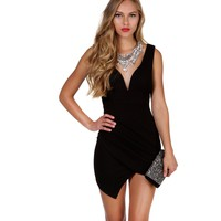Black Summer Romance Bodycon Dress
