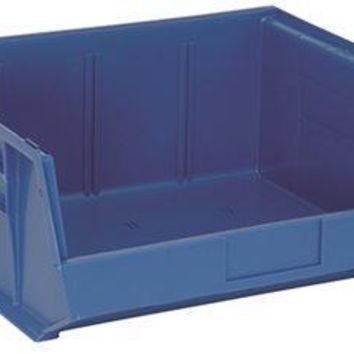 """Quantum Storage Systems Stack And Hang Bin, 14-3-4"""" X 16-1-2"""" X 7"""", Blue"""