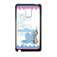 Olaf Quote Melting The Disney Frozen Pink Blue Chevron Samsung Galaxy Note Edge Case