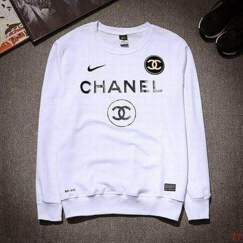 ONETOW NIKE CHANEL Fashion Casual Long Sleeve Sport Top Sweater Pullover Sweatshirt