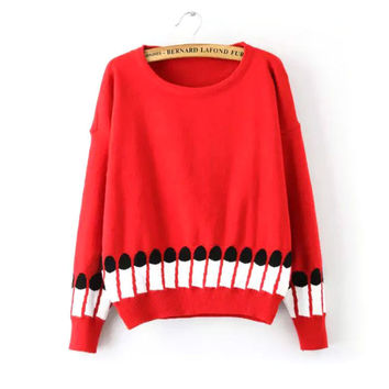 Knit Pen Winter Round-neck Long Sleeve Pullover Bottoming Shirt [8422524801]
