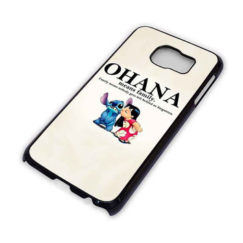 LILO AND STITCH OHANA FAMILY Disney Samsung Galaxy S3 S4 S5 S6 Edge Plus Mini Note Case Cover