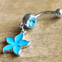 Flower Belly Button Rings,leaf belly button ring