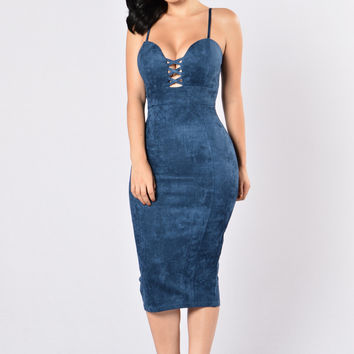 Properly Perfect Dress - Navy Blue