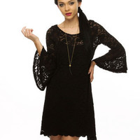 Snowberry Lane Lace Black Dress