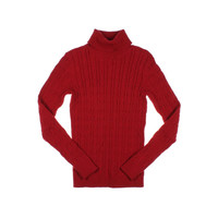 Charter Club Womens Cable Knit Ribbed Turtleneck Sweater