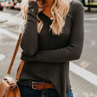 Autumn and winter slim long pullover sweater