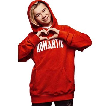 Romantic Letters Harajuku Hoodie Red Cotton Fall Women Hoodies Pullover Gothic Sweatshirt Women Marcus and Martinus Tour Clothes