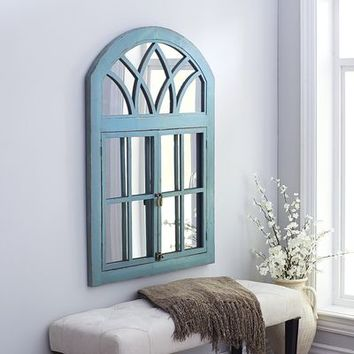Garden Window Mirror - Turquoise