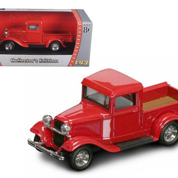 1934 Ford Pick Up Red 1-43 Diecast Car by Road Signature