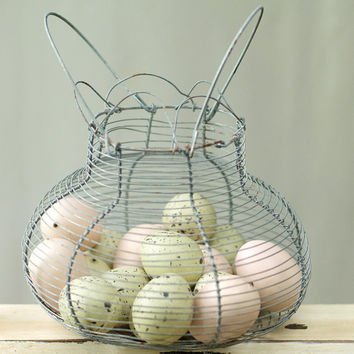 Vintage Wire Egg Basket by My3Chicks on Etsy