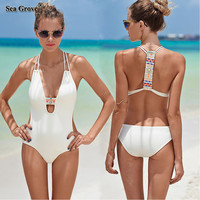 One Piece Swimsuit Plus Size Swimwear Women 2017 New Sexy Beachwear Push Up Bathing Suits Retro Swim Wear Monokini