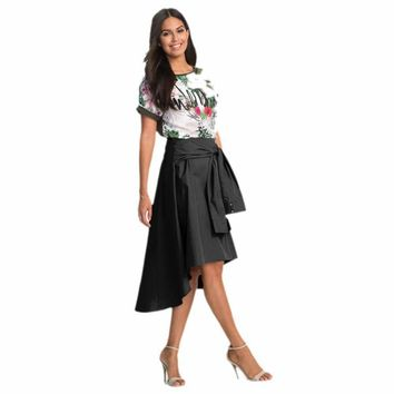 Feitong Brand Fashion Women Flared Knee Length Skater Skirt Ladies Casual Mini Office Work Skirt