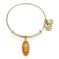 Golden Flower Chrysanthemum Charm Bangle